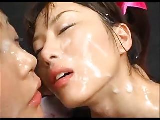 Japanese Bukkake Sperm Lesbian