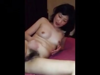 Chinese woman shows pussy for public
