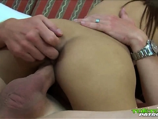 Petite Thai babe with thick wet labia gets fucked by white