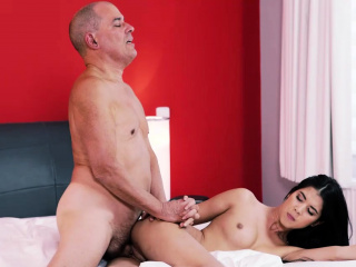 OLD4K. Comely unladylike plus bald pa inflate independence in bedroom