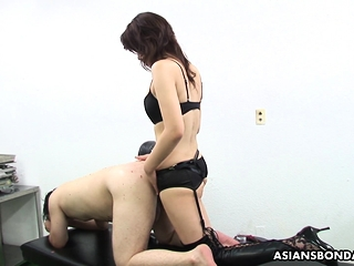 Remi Kawamura is wearing a strap- essentially and fucking ass