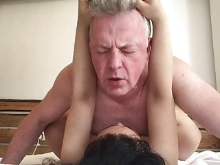 Thai Big Tits BBW fucked rough by British Bulld