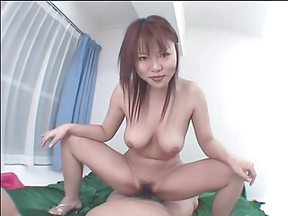 Lusty asian pet deepthroats a big hard load of shit