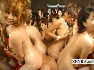 Huge kinky Japan irritant scraping blowjob titjob POV orgy